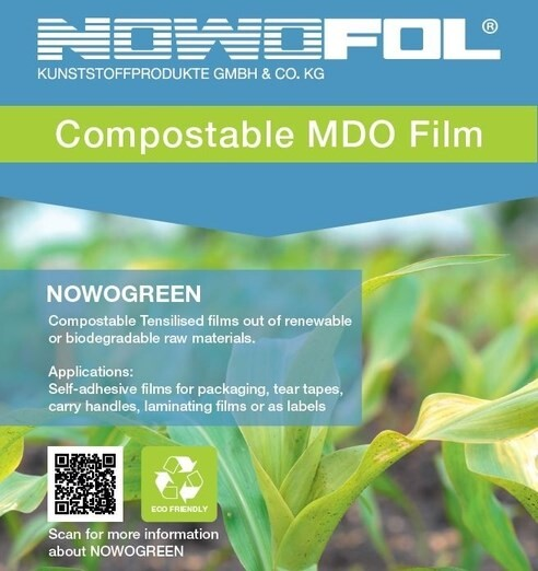 LOGO_NOWOGREEN - Compostable PLA Film for Packaging