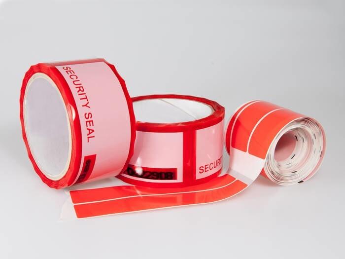 LOGO_SICHERHEIT FÜR IHR PRODUKT - Selbstklebende Oberflächenschutzfolie, Sicherheits Klebebänder und Etiketten