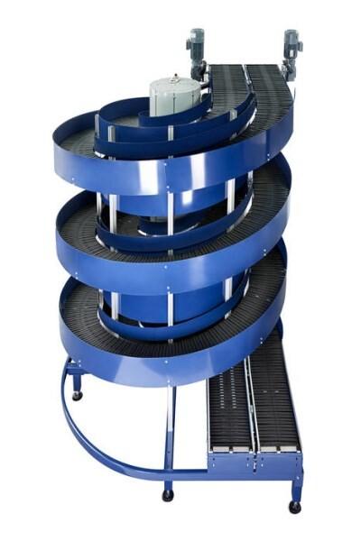 LOGO_Dual Lane Spiral Conveyor transports double capacity!