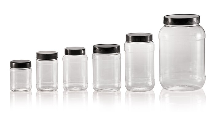 "LOGO_""Nova"" PET jars"