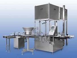 LOGO_Filling and capping machine / with label printing and application station GFV 1000/GFVE 1000