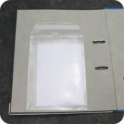 LOGO_Rectangular pockets, self-adhesive