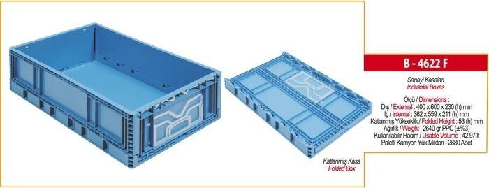 LOGO_B-4622 F Foldable Industrial Crate