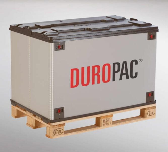 LOGO_DUROPAC-Faltbehälter für Europaletten oder H1-Paletten (Palettenmaß 1200 x 800)