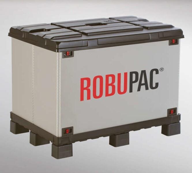 LOGO_ROBUPAC-Faltbehälter mit integrierter Palette (Palettenmaße 1200 x 800 und 1200 x 1000)