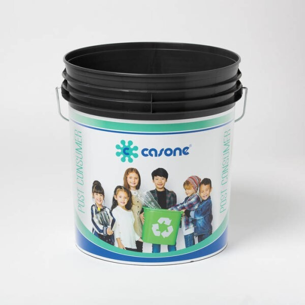 LOGO_BUCKETS MANUFACTUERD WITH REGENERATED AND POST CONSUMER MATERIALS
