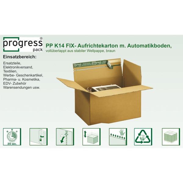 """LOGO_progressPACK® Fix-Aufrichtekarton """"PREMIUM"""""""