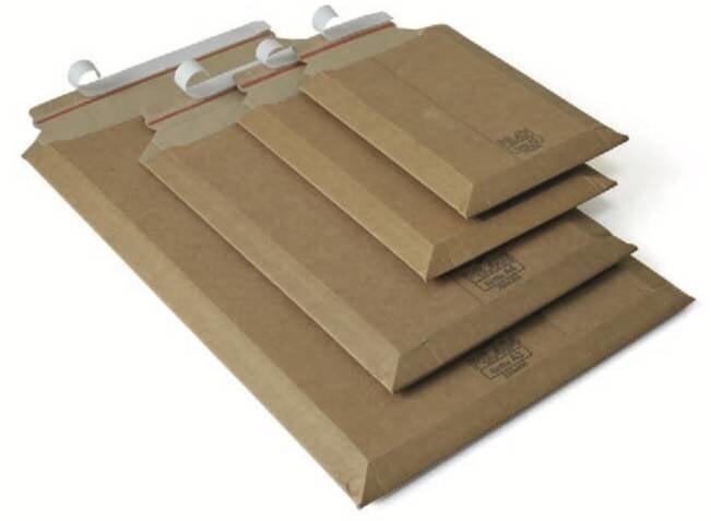 LOGO_PS.4... - Versandtaschen, Wellpappe, braun (individuell bedruckbar)