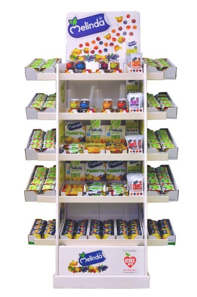 LOGO_N°1  FLOOR STAND DISPLAY FOR SNACK FRUITS