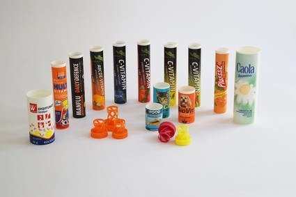 LOGO_Printed tubes with desiccant closures for effervescent tablets