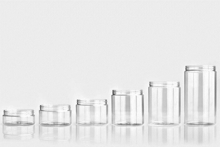 LOGO_PET jars with the neck finish 70/400, 89/400, 100/400