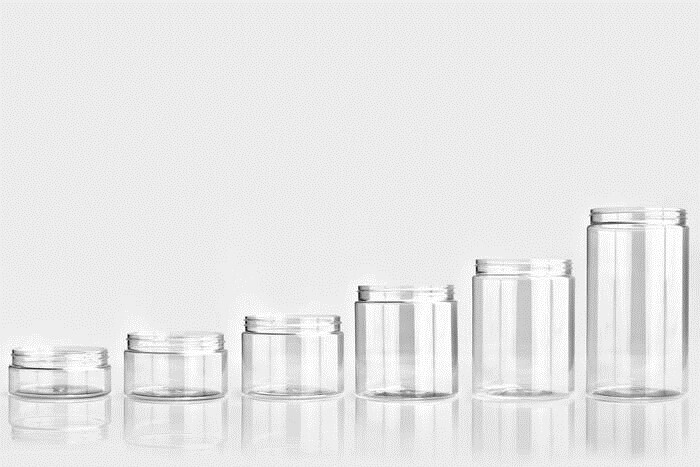LOGO_PET jars with the neck finish 70/400, 89/400, 100/400