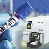 LOGO_Tube labeler identifying laboratory samples