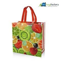 LOGO_MARS NON-WOVEN PP LAMINATED SUPERMARKET BAG WITH GUSSETS