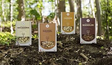 LOGO_NØDDEBAZAREN: Bio-Nüsse aus Dänemark