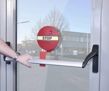 LOGO_GfS DEXCON (DOOREXITCONTROLLER) für Stangengriffe reduziert Missbrauch von Paniktüren