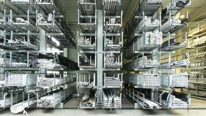 LOGO_Cross-travelling, manual PVCU profile storage system