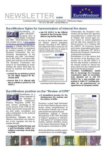 LOGO_EuroWindoor Newsletter 12/2019
