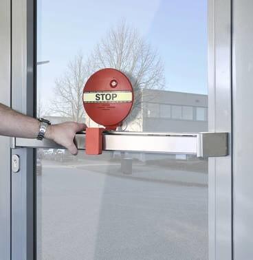 LOGO_GfS DEXCON (DOOREXITCONTROLLER) für Druckstangen reduziert Missbrauch von Paniktüren