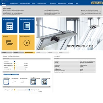 LOGO_GEZE WinCalc 2.0: the new configuration tool for window technology now offers more