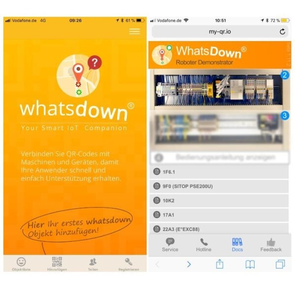 LOGO_WhatsDown: Smarte IoT-Services für Maschinen