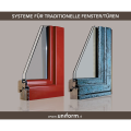 LOGO_Systems for wood-aluminium and wood-bronze doors and windows