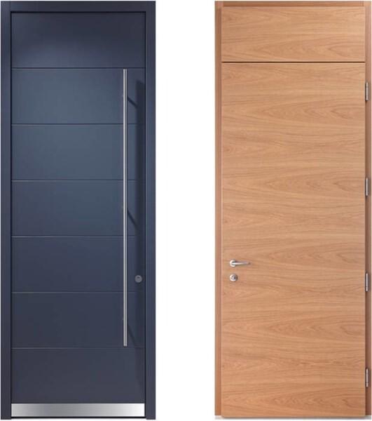 LOGO_Design-Haustüren mit unterschiedlichen Oberflächen außen/innen