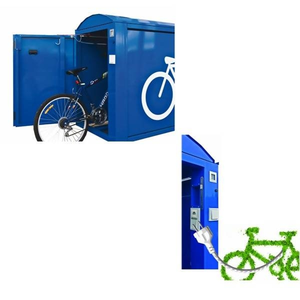 LOGO_Fahrradbox ARETUS mit Energiesäule