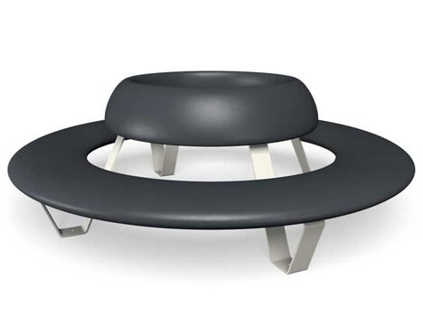 "LOGO_Circular Bench with Backrest ""Buddy"""