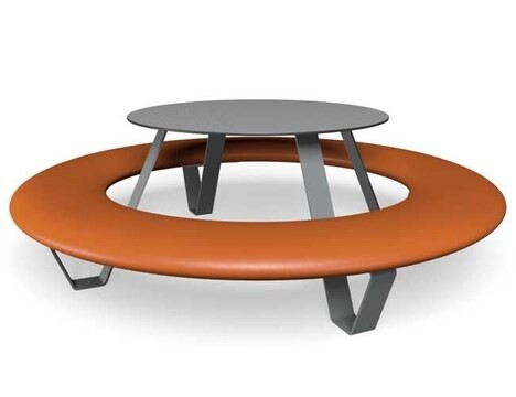 "LOGO_Circular Bench with Table ""Buddy"""