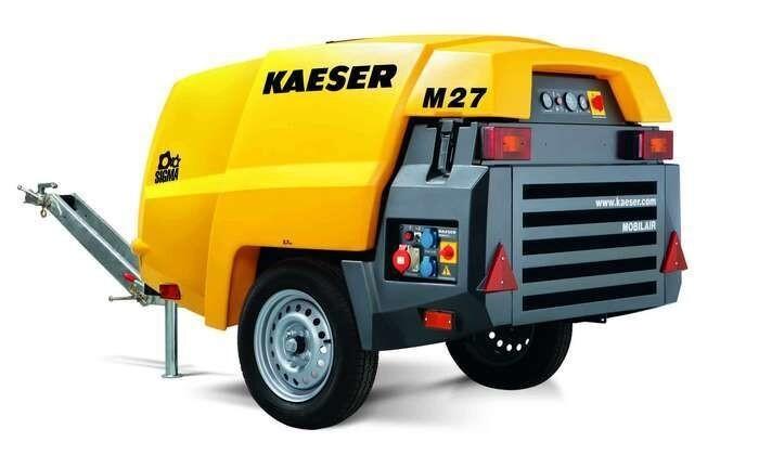 """LOGO_Baukompressor """"Mobilair M 27"""" mit PE-Haube und Generator"""
