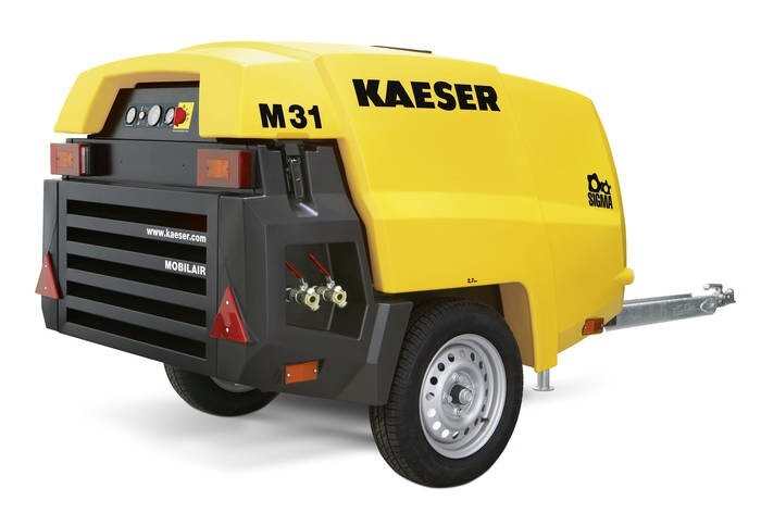 "LOGO_Neu: Baukompressor ""Mobilair M 31"" mit PE-Haube"