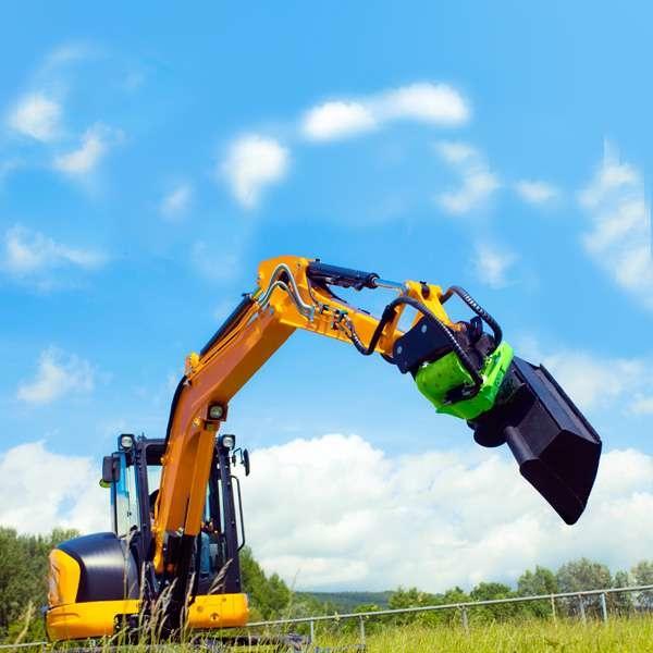 """LOGO_Mit XtraTilt """"besser ohne Zylinder"""" - Anbaugerät für Baumaschinen"""