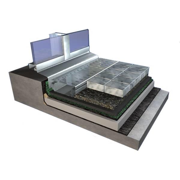 LOGO_Flachdach- und Terrassen-Entwässerungsrinne im Einsatz
