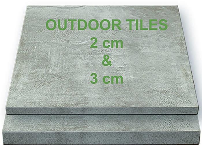 LOGO_Terrassenplatten in 2 cm und 3 cm Stärke in verschiedenen Formaten
