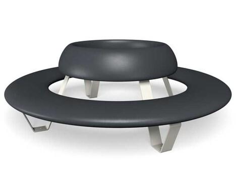 "LOGO_Kreisförmige Sitzbank mit Rückenlehne ""Buddy"""