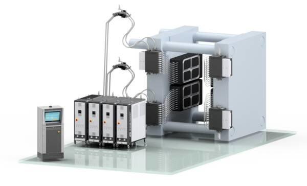 LOGO_Mehrzonentemperiersystem, Wärmeträgermedium Wasser bis 150°C