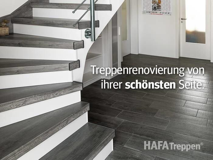 LOGO_Gewendelte Treppe im Dekor Eiche Vintage Grau - Ausführung Laminat