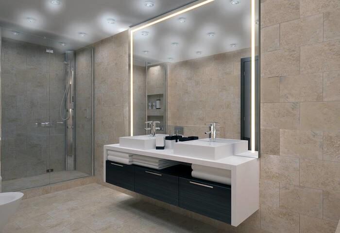 LOGO_LED-Spiegel beleuchtet Alu-Style Standard oder auf Maß