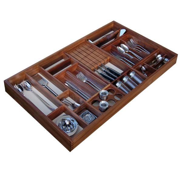 LOGO_Solid wood Cutlery inserts Set B40