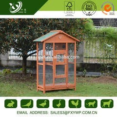 LOGO_Green Asphalt Roof Easy Clean Wooden Bird Cages House Large