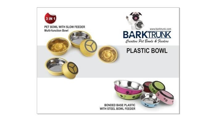 LOGO_Plastic with stainless steel pet bowls