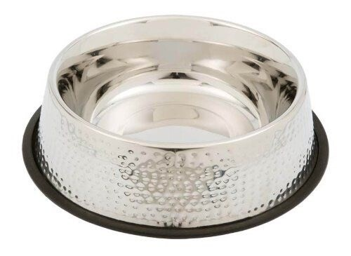 LOGO_Hammered SS dog bowl