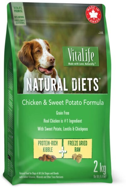 LOGO_VitaLife Natural Diets™ Chicken & Sweet Potato Dry Dog Food
