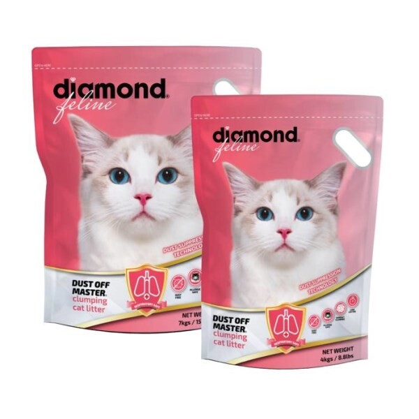 LOGO_Diamond Feline®: Dust Off Master® Katzenstreu