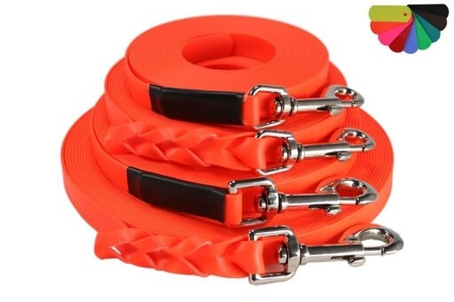 LOGO_Tracking leash from flat BioThane® – in many colours