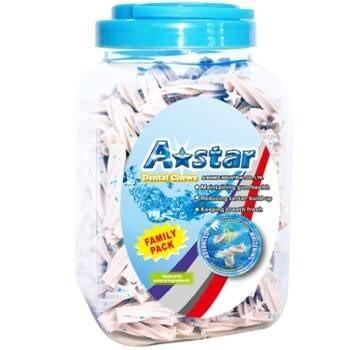 LOGO_A Star Dental Treat White Kapselpackung mit fünf Sternen, Sparpackung, Einzelpackung