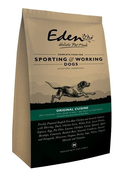 LOGO_EDEN 80/20 ORIGINAL CUISINE WORKING AND SPORTING DOG FOOD
