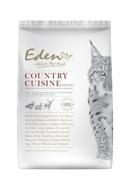 LOGO_EDEN 85/15 COUNTRY CUISINE FOR CATS