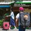 LOGO_Barrel Rider Rolling Backpack Pet Carrier